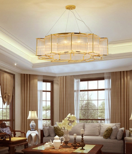 ANC-Modern Dining Room Chandeliers | Leaf Shape Crystal Chandelier-8