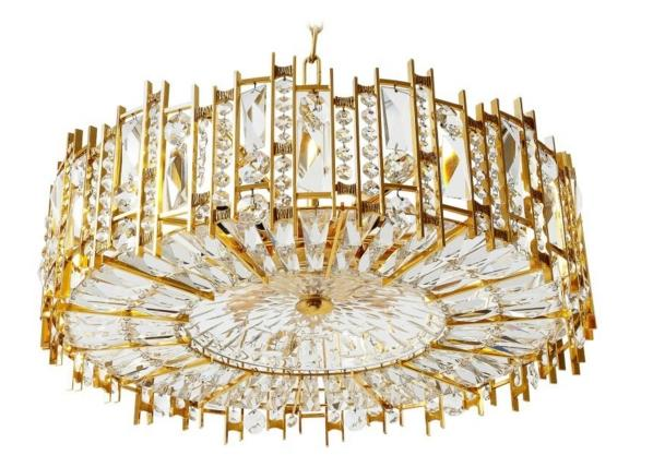 Beautiful Vintage 10 Arm Chandelier in Brass with Opaline Glass Shades Short Chandeliers