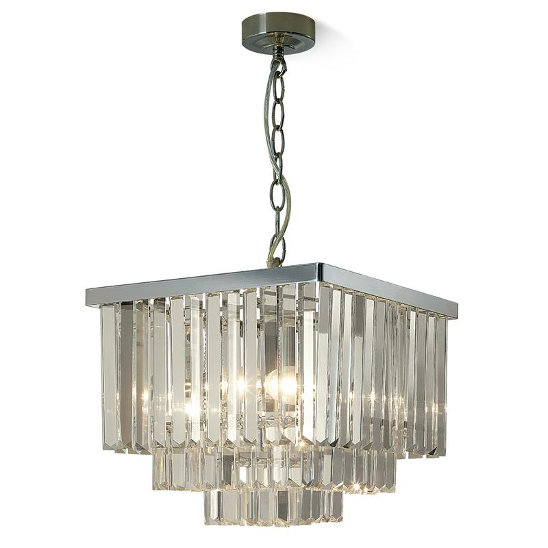Use crystal chandeliers to decorate your room