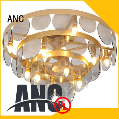 glass ceiling lamp round lift-motor room ANC