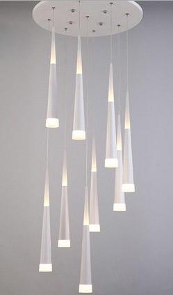Rain Drop Pendant Lights Fixtures for Dining Room Shower Rain Pendant Lamp Stair Bar Droplight LED Lamp hanging