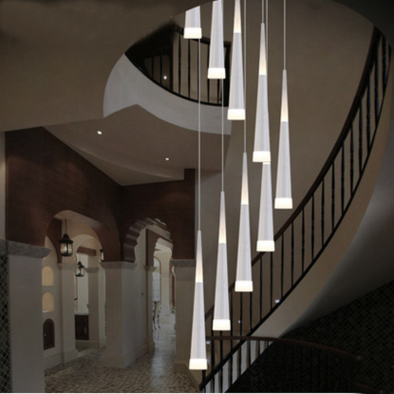 ANC-Crystal Pendant Lighting Rain Drop Pendant Stair Bar Droplight-1