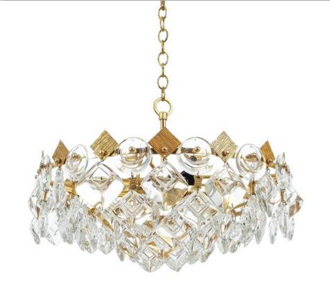Postmodern designer restaurant chandelier simple hotel villa living room bedroom model room glass crystal chandelier