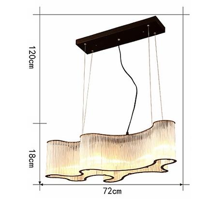 ANC-Modern Chandeliers   Hotel Engineering Glass Pendant Chandelier